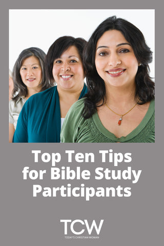 Top Ten Tips for Bible Study Participants