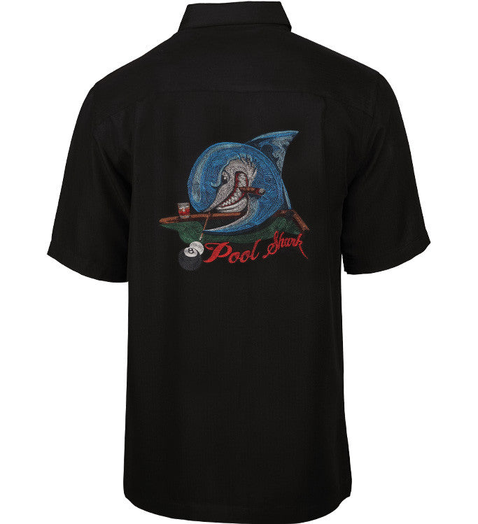 Men's Pool Shark Embroidered Fishing Shirt - Hook & Tackle - 1