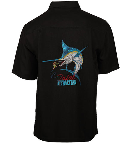 Men's Fatal Attraction Embroidered Fishing Shirt