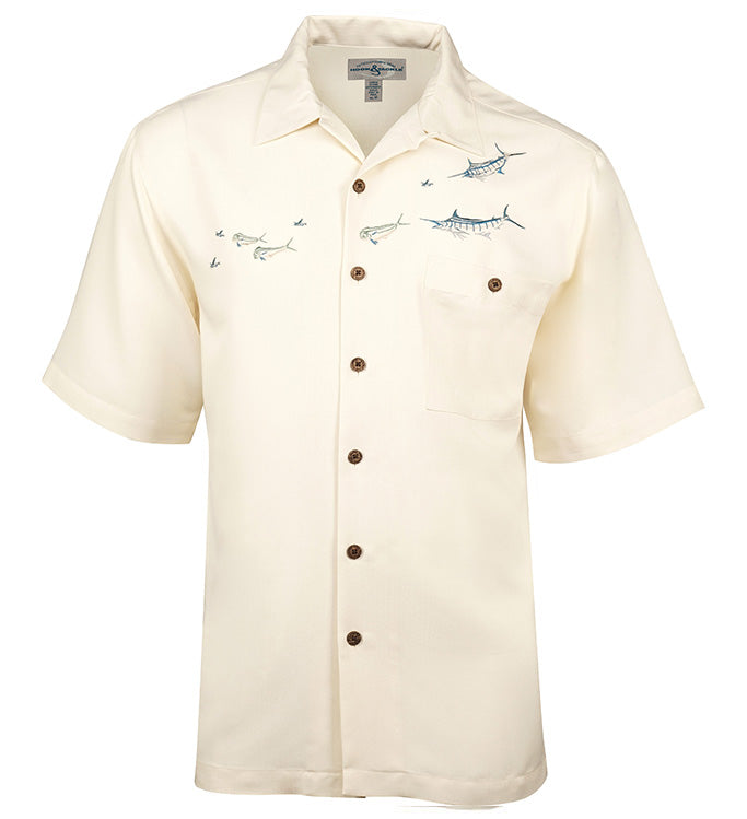 Men's Angler's Delight Embroidered Fishing Shirt - Hook & Tackle - 2
