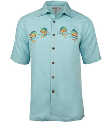 Men's Let's Dance Embroidered Fishing Shirt - Hook & Tackle - 3