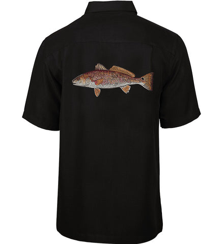 Men's Redfish Embroidered Fishing Shirt