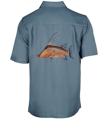 Men's Hogfish Embroidered Fishing Shirt