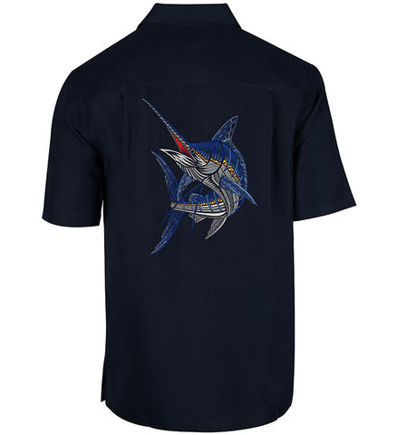 Men's Marlinesque Embroidered Fishing Shirt