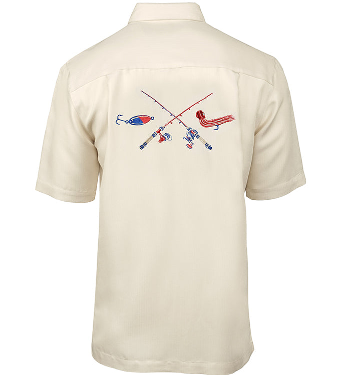 Men's Crossing Rods Embroidered Fishing Shirt