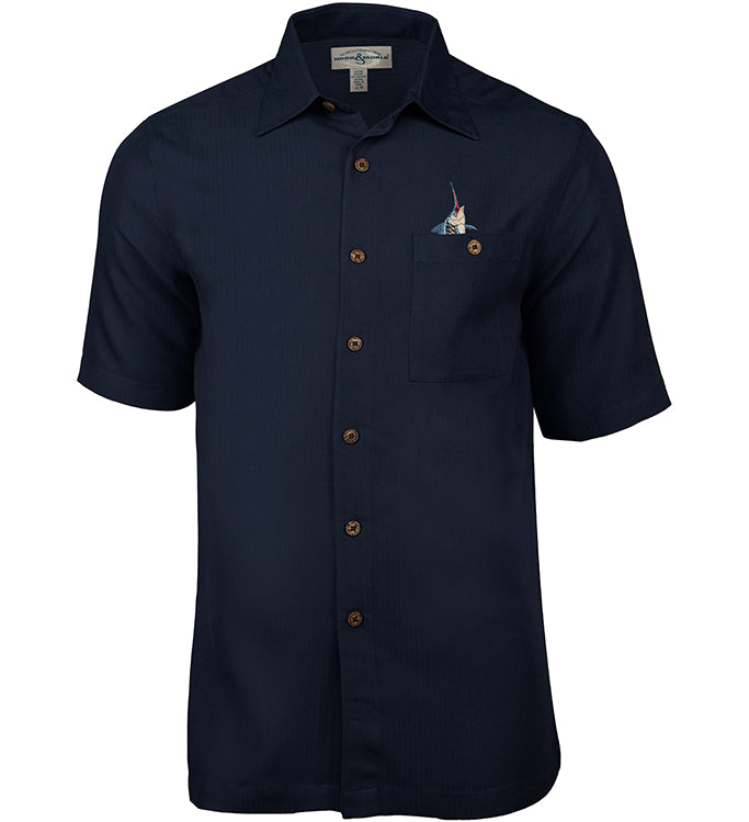 Men s fishtails ii embroidered fishing shirt hook tackle