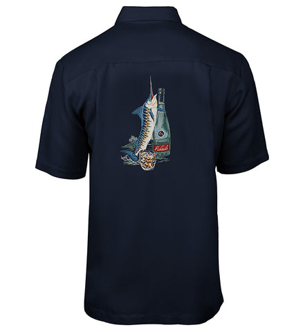 Men's Fishtails II Embroidered Fishing Shirt