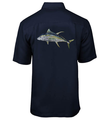 Men's Tuna Embroidered Fishing Shirt