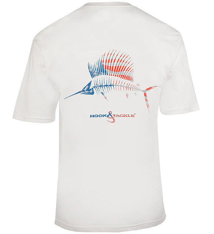 Men's American Sailfish S/S Pocket UV Fishing T-Shirt - Hook & Tackle - 1