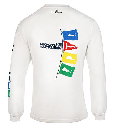 Men's Tag Flags L/S UV Fishing T-Shirt