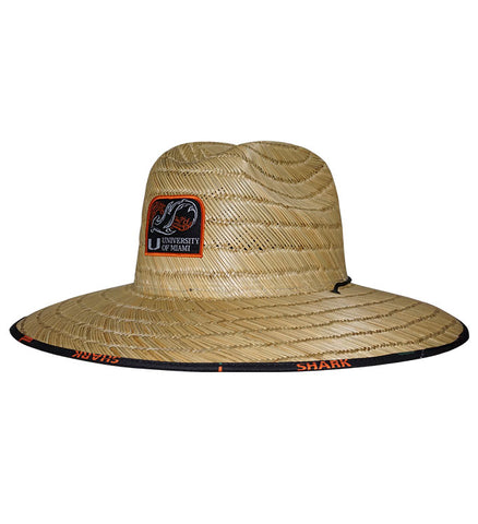 UM Shark Lifeguard Stretch Fit Straw Hat