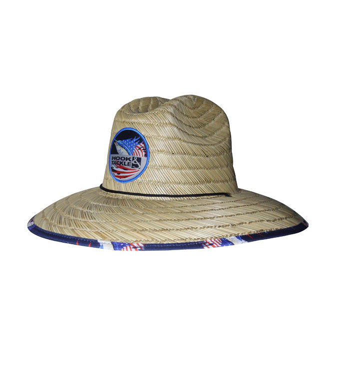 Sails & Stripes Lifeguard Fishing Stretch Straw Hat