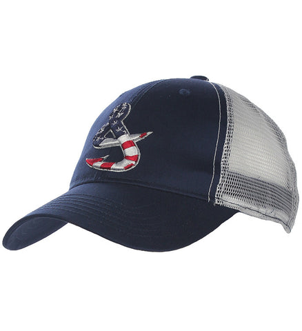 Old Glory Fishing Trucker Hat