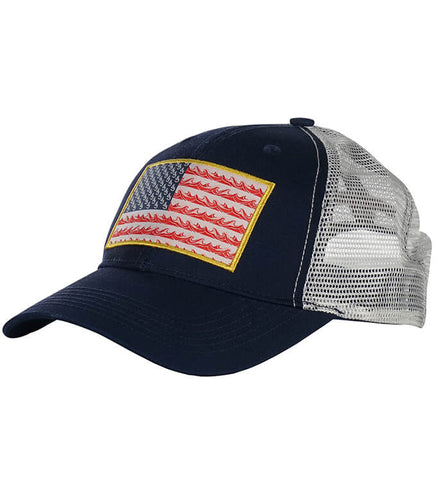 Flag Waver Fishing Trucker Hat