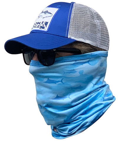 Blue Marlin Camo Fishing Neck Gaiter