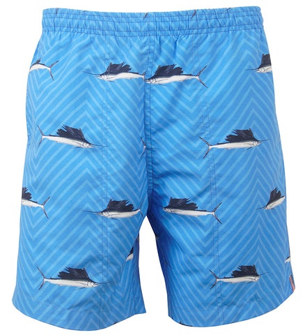 Men's Sailfish Herringbone Fishing Swim Trunk