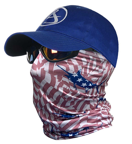 Stars & Stripes Sun Fishing Face & Neck Gaiter
