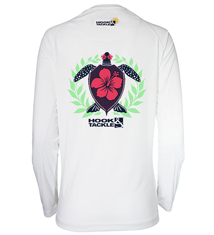 Women's Hibiscus Turtle L/S UV Fishing Shirt