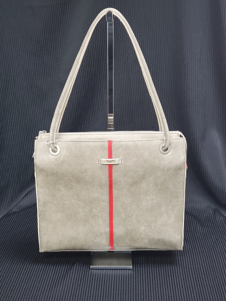 Hammitt Benjamin Pewter Leather Handbag