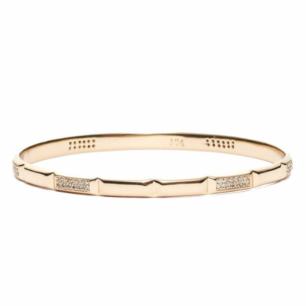 MARGO PAVE BANGLE GOLD WHITE CZ