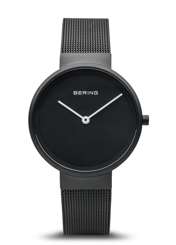 Bering Ladies Modern Matte Black w/Milanaise Band