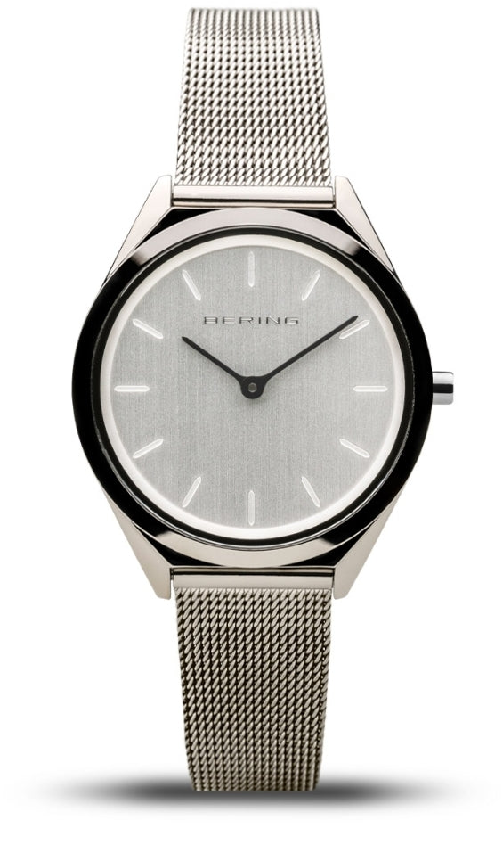 Bering Unisex Ultra Slim All Silver w/Milanese Strap