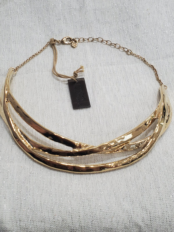 Uno De 50 Nihiwatu Beach 18KY Gold Plated adj Choker Necklace