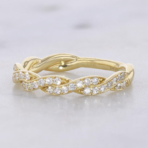 Parade 18K Yellow Gold Twisted Wedding Band