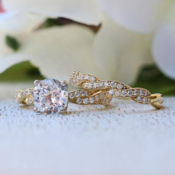 Parade 18K Yellow & White Gold Twisted Engagement Ring