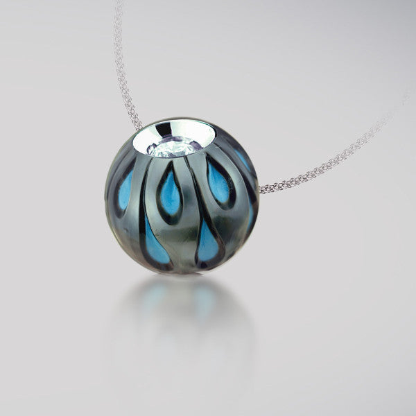 Galatea Pearl And Turquoise Pendant 14KW