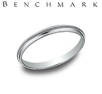 Benchmark 14k White Gold Womans Wedding Band
