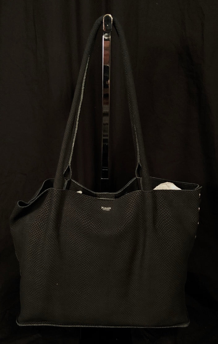 Oliver Space Black Snaked Tote by Hammitt