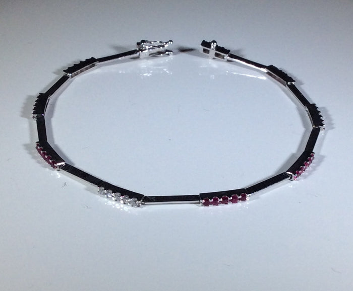 Parade Diamond and Ruby Tennis Bracelet