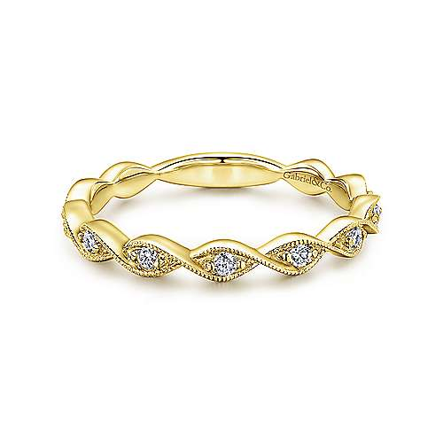 Gabriel & Co 14K Yellow Gold Fashion Ladies Ring