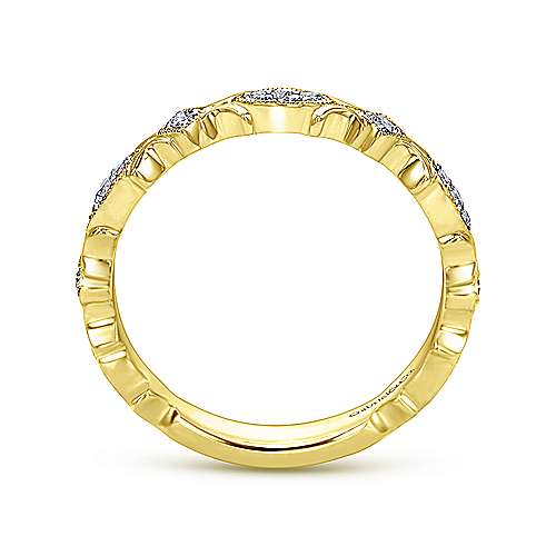 Gabriel & Co 14k Yellow Gold Geometric Stackable Ring