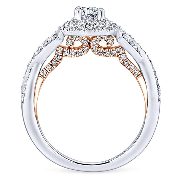 Gabriel & Co Adore Two Tone Engagement Ring