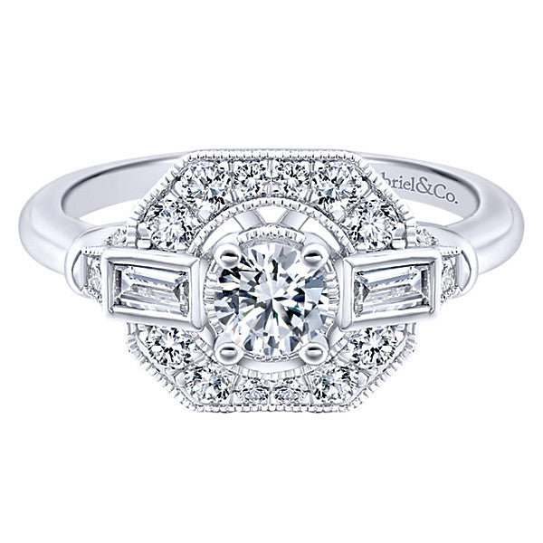 Gabriel & Co Adore Vintage Engagement Ring