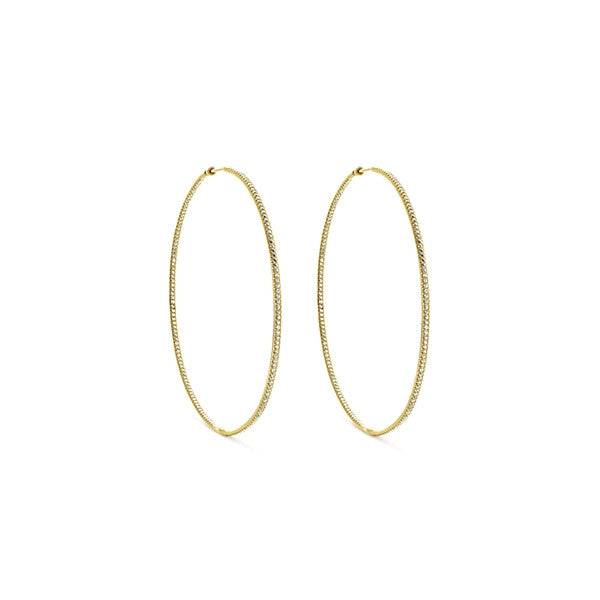 Gabriel & Co 14k Yellow Gold Classic Hoop