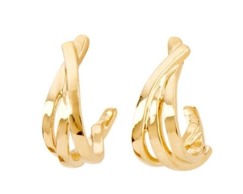 Uno De 50 Nihiwatu Beach 18KY Gold Plated Earrings