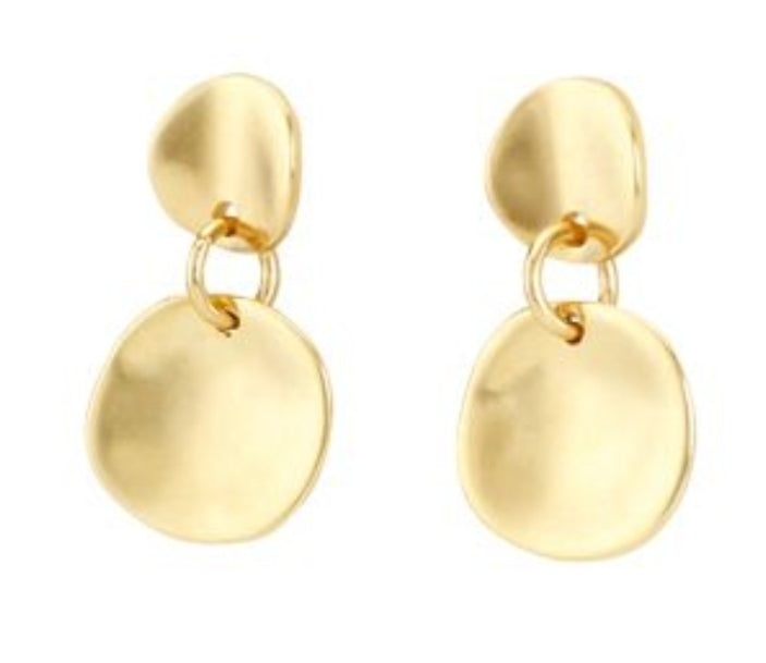 Uno De 50 18k Yellow Gold Plated Scales Earrings