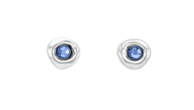 Uno De 50 Ciambella Blu Earrings w/Swarovski Crystals