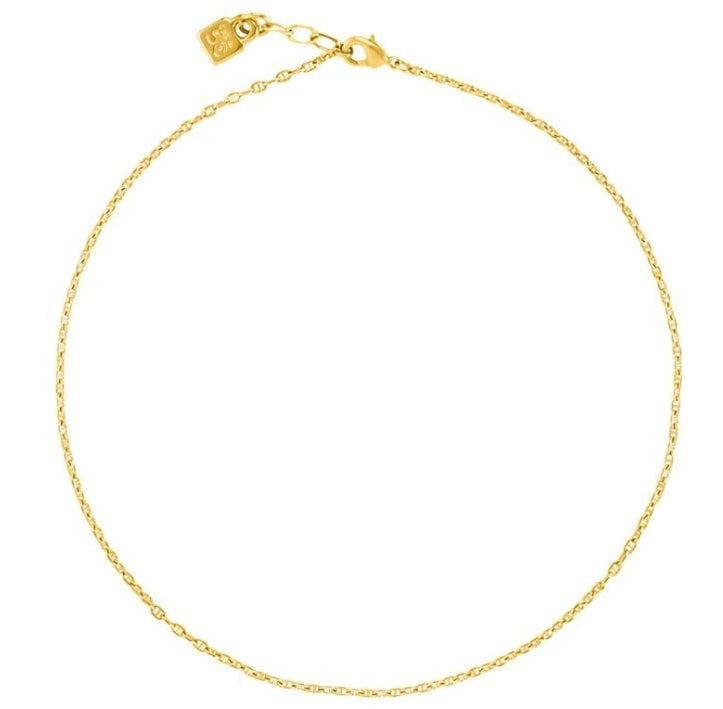 Uno De 50 18k Yellow Gold Plated Chain 7 18""