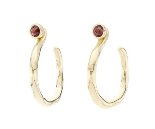 Uno De 50 Interchangeable 18K Gold Plated Protected Hoop Earrings