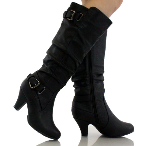 Bag-55 Slouchy Knee High Boots