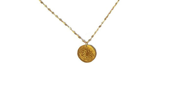 Chloris Lotus Goddess Necklace