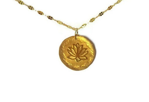 chloris lotus gold necklace pekidesign