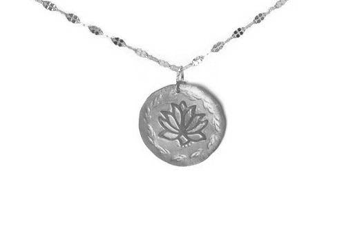 chloris lotus silver necklace pekidesign