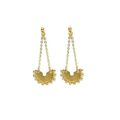 Arrina Goddess stud earrings – Gold, Silver