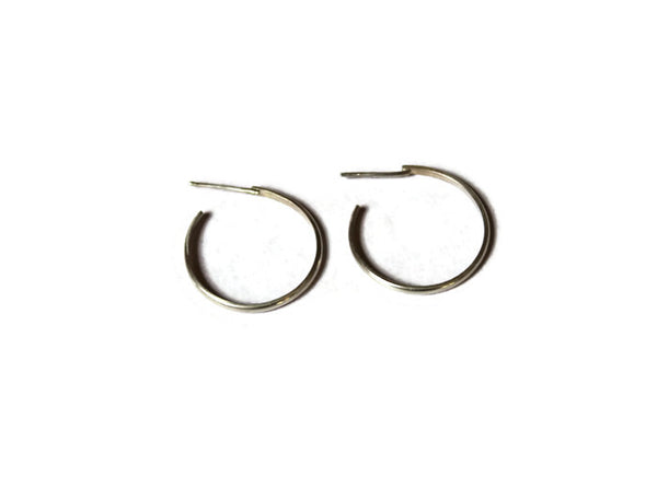 Large hoop earrings in Sterling Silver or 18 carat Gold Plate on top of Sterling Silver