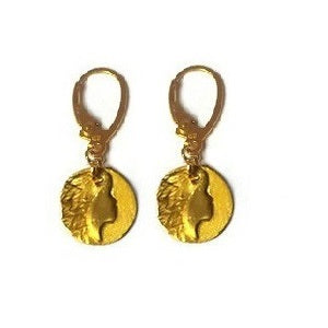 Sofia Goddess coin earrings